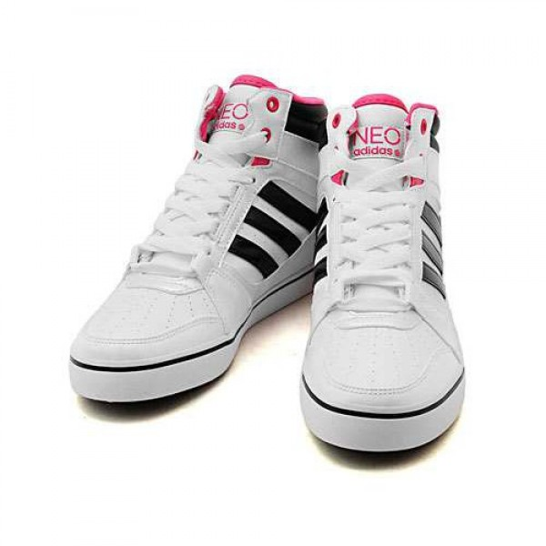 adidas ホワイト/ブラック/ブルーム adid...