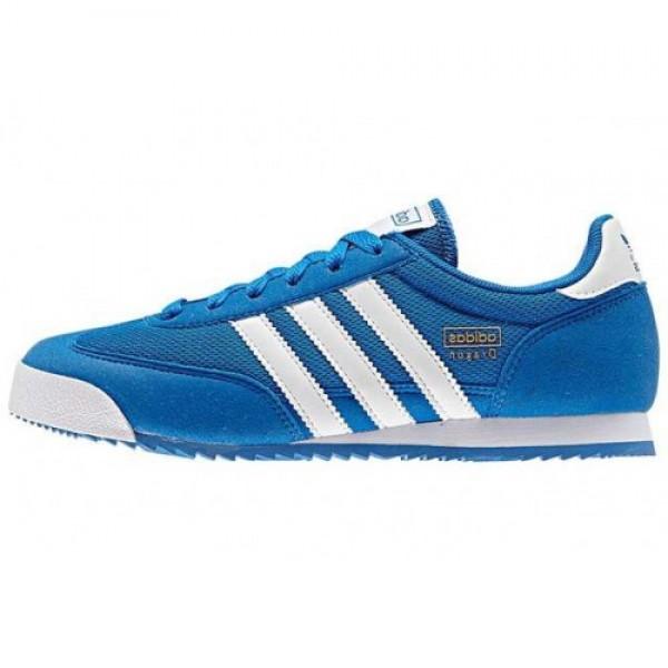 アディダス adidas Dragon J BLUE/WHITE ウィ�...