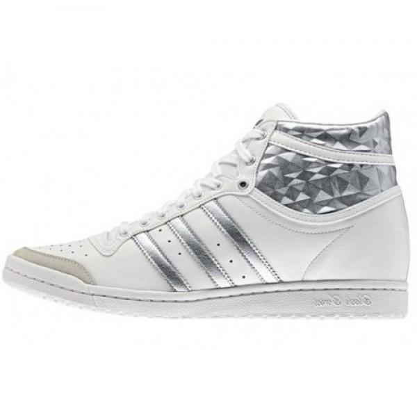アディダス adidas Top Ten Hi Sleek W WHITE/SI...