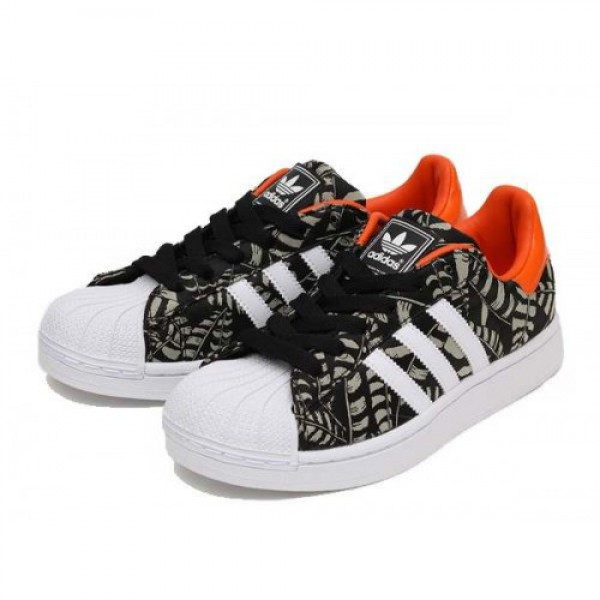 adidas Superstar 2 EF W BLACK/ORANGE/WHITE ブラ�...
