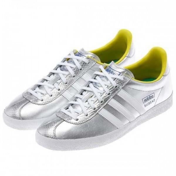 adidas アディダス Gazelle OG EF W SILVER/YELL...