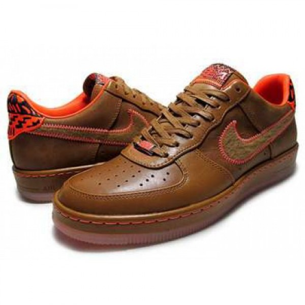 "NIKE AIR FORCE 1 DOWNTOWN LOW BHM QS ""Black History Month 2013"" hazelnut/hazelnut-t.org 586582-200"