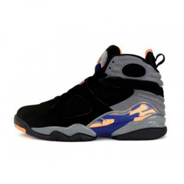 NIKE 13K05  AIR JORDAN 8 RETRO  BLK/BRGHT CTRS-CL ...