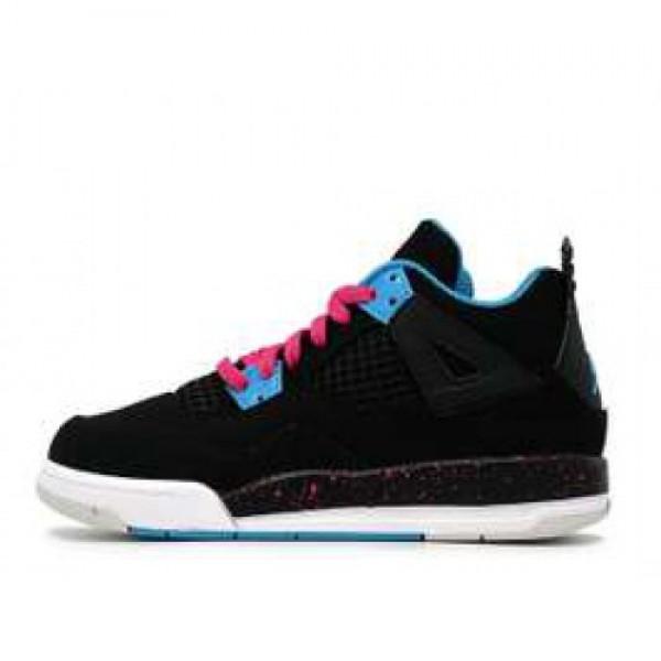 "Nike Girls Jordan 4 Retro (PS) ""south beach"" ナイキ ガールズ ジョーダン 4 レトロ ""サウスビーチ"" 黒水ピンク 487725-019"