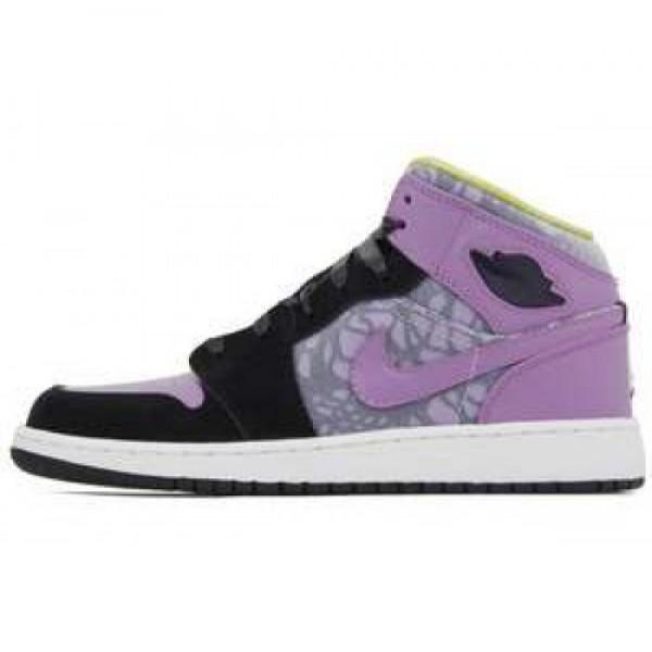 Nike Girls Air Jordan 1 Phat (GS) BLACK/VIOLET POP...