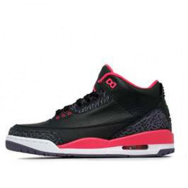 Nike Air Jordan III Retro Black Bright Crimson  �...