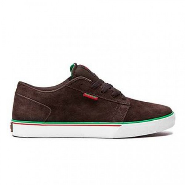 SUPRA AMIGO CHOCOLATE SUEDE/RED AND GREEN ACCENTS-...