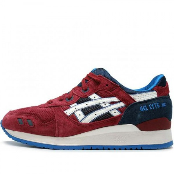 red white and blue asics gel lyte